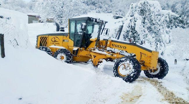 81 Köy Yolunda Karla Mücadele Devem Ediyor
