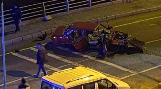 Rize Plakalı Araç Ünye'de Kaza Yaptı
