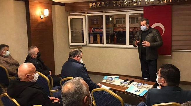 Rize Milletvekili BAK, Pazar'da STK'ları Dinledi