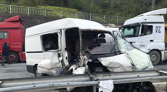 Rize Pazar'da Trafik Kazası!