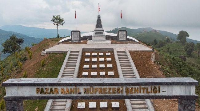 Pazar Şehitlik Anıtı İnşaatı Tamamlandı