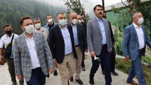 Bakanı Murat Kurum, Rize'yi Ziyaret Etti