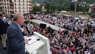 Cumhurbaşkanı Recep Tayyip Erdoğan Rize'de