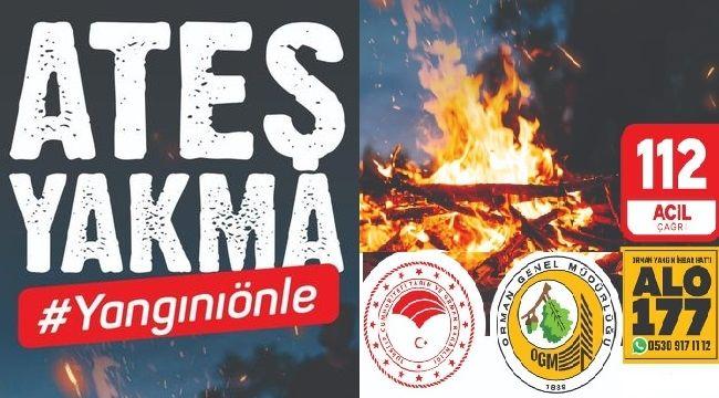 """RİZE VALİLİĞİ: """" Ateş Yakma Yangını Önle"""""""