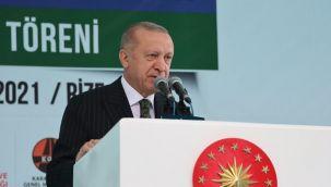 Cumhurbaşkanı Erdoğan, İyidere-İkizdere Yolu ve Tünelleri Açılışını Yaptı