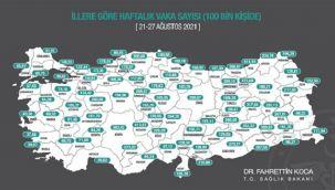 İllere Göre Haftalık Vaka Haritası Açıklandı