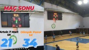 Olimpik Pazar Spor Kulübü Hentbol Takımı Artvin'de Kazandı
